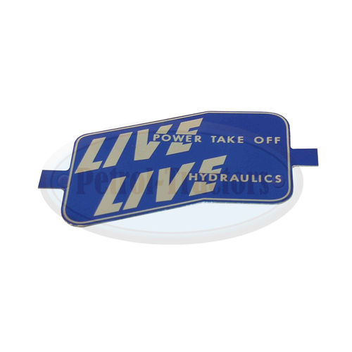 """Live Power Take Off"" Alu Schild für Frontgrill"